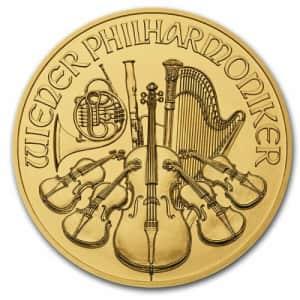 2021 Austria 1/10-oz. Gold Philharmonic BU Coin for $229