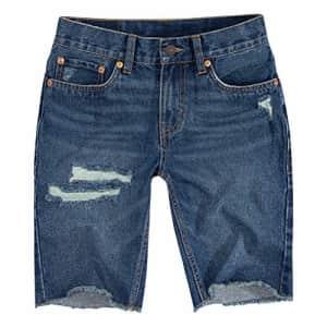 Levi's Boys' Big 511 Slim Fit Denim Shorts, Meadowlands, 16 for $23