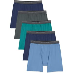 Fruit of the Loom Men's Lightweight Micro-Stretch Boxer Briefs 5-Pack from $12