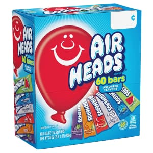 Air Heads Bar 60-Count Variety Pack for $6.38 via Sub & Save