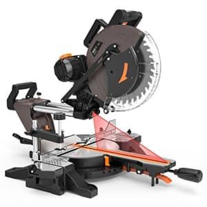 TACKLIFE 12-inch Sliding Miter Saw, 15Amp, 3800rpm, Double-Bevel Compound Miter Saw with Laser, for $170