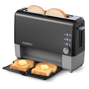 West Bend 77224 QuikServe Slide Through Wide Slot Toaster with Cool Touch Exterior and Removable for $45