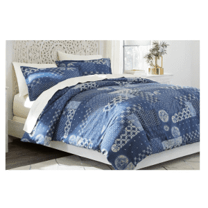 Home Decorators Collection Gutherie 3-Piece Shibori Patchwork Full/Queen Duvet Cover Set for $30