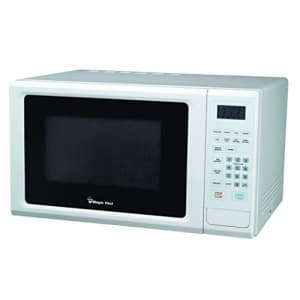 Magic Chef Cu. Ft Countertop Oven with Push-Button Door in White MCM1110W 1.1 cu.ft. 1000W Microwave for $100