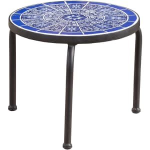 Christopher Knight Home Slate Outdoor Ceramic Tile Side Table for $30