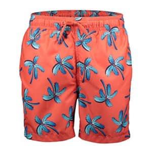 Kanu Surf Men's Havana Swim Trunks (Regular & Extended Sizes), Palm Beach Coral, Medium for $20