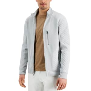 INC Men's Quilted Rib Knit Jacket for $22
