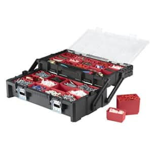 Keter 22 Inch Resin Cantilever Tool Box with 27 Removable Compartments Perfect Organization and for $64