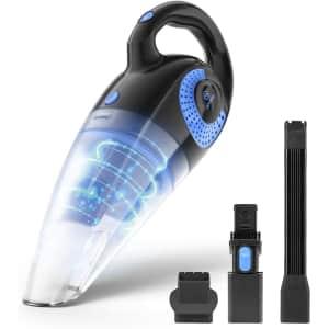 Moosoo Handheld Cordless Wet/Dry Vacuum Cleaner for $50