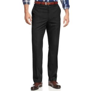 Michael Kors Men's Solid Classic-Fit Stretch Dress Pants for $25