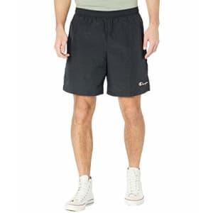 "Champion Men's 6"" Nylon Warm Up Shorts, Black, X-Large for $30"
