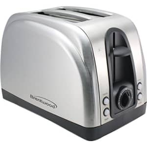 Brentwood Ts-225S 2-Slice Elegant Toaster with Brushed Stainless Steel Finish Electronic Consumer for $25