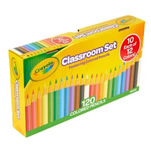 Crayola Classroom Set Colored Pencils 120-Count Pack for $8