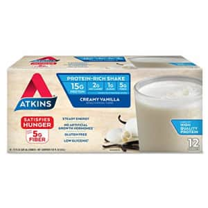 Atkins Creamy Vanilla Protein-Rich Shake. With High-Quality Protein. Keto-Friendly and Gluten Free. for $19