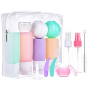 Morfone 16-Pc. TSA-Approved Toiletries Travel Bottle Set for $14