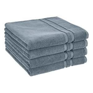 AmazonBasics GOTS Certified Organic Cotton Bath Towel - 4-Pack, Tide Pool for $40