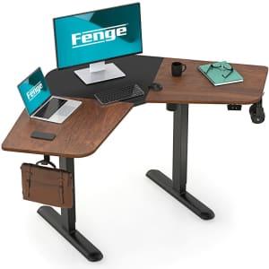 Fenge L-Shape Electric Height-Adjustable Computer Desk for $239