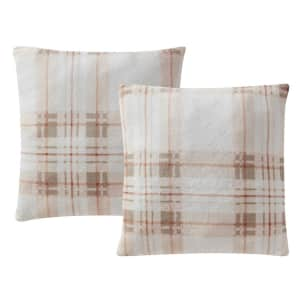 """Printed Plush 18"""" Decorative Pillow 2-Pack for $6"""