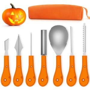 Greatever Halloween 7-Piece Pumpkin Carving Kit for $13