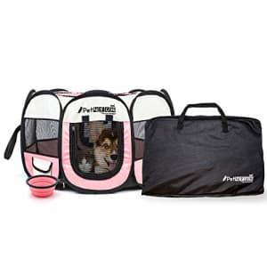 PicassoTiles PET4FUN PN935 35 Portable Pet Puppy Dog Cat Animal Playpen Yard Crates Kennel w/ Premium 600D for $28
