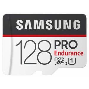 Samsung PRO Endurance 128GB Class 10 MicroSDXC Memory Card w/ Adapter for $20