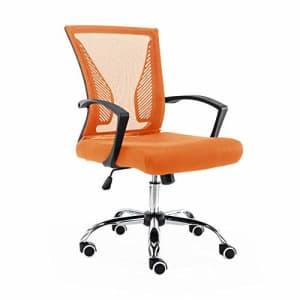 Modern Home Zuna Mid-Back Office Task Chair - Ergonomic Back Supporting Mesh Back Desk Chair for $80