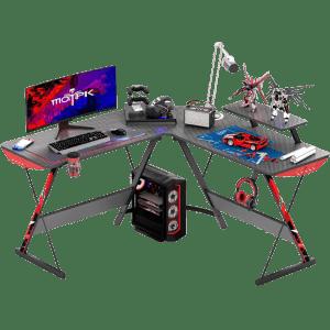 "Motpk 51"" L-Shaped Gaming Desk for $85"