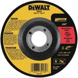 """DeWalt 4.5"""" Thin Cutting Wheel for $2"""
