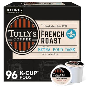 Tully's Coffee French Roast K-Cup 96-Pack for $18