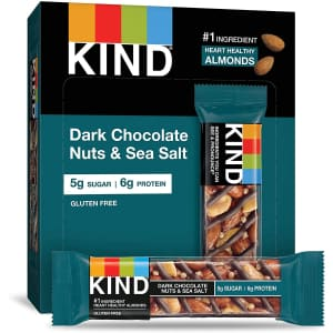 KIND Dark Chocolate Nuts & Sea Salt Bar 12-Pack for $13