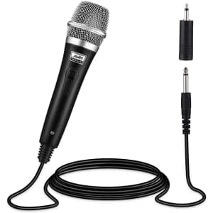 Moukey Dynamic Wired Microphone for $6