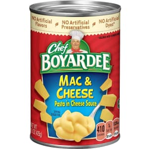 Chef Boyardee Macaroni and Cheese for 88 cents