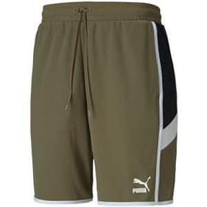 "PUMA Men's Iconic MCS Shorts 8"", Burnt Olive, XS for $45"