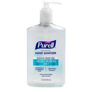 Purell 2-in-1 Moisturizing Advanced Hand Sanitizer Gel 12-oz. Pump Bottle for $6