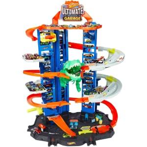 Hot Wheels City Robo T-Rex Ultimate Garage for $89