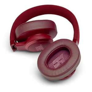 JBL Live 500BT Wireless Over-Ear Headphones (red) for $60