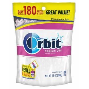 Orbit Bubblemint 180-Count Sugarfree Gum for $7