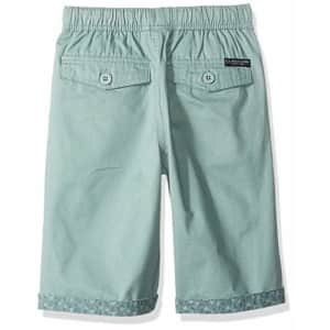 U.S. Polo Assn. Boys' Little Pull-On Short, Solid Sage, 7 for $8