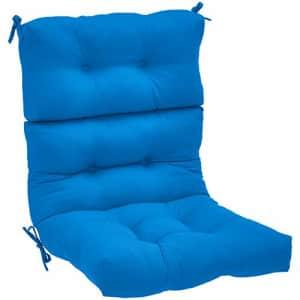 Amazon Basics Tufted Outdoor High Back Patio Chair Cushion- Blue for $86