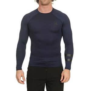 Hurley Men's Long Sleeve Pro Light Quick Dry Sun Protection Rashguard Shirt, Obsidian, S for $38