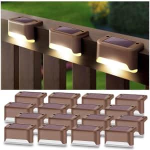 DenicMic LED Solar Deck Light 16-Pack for $26
