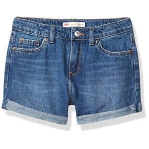 Levi's Girls' Girlfriend Fit Denim Shorty Shorts, Evie, 6X for $36