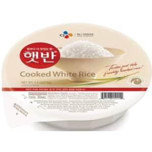 CJ Rice Cooked White Hetbahn 7.4-oz. 12-Pack for $13 via Sub & Save
