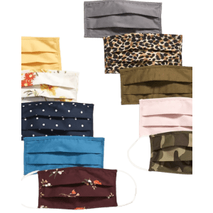 Old Navy Adults' Face Mask 10-Pack for $10