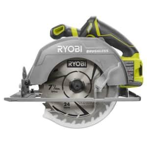 "Ryobi 18V One+ 7-1/4"" Cordless Circular Saw (tool only) for $155"