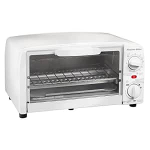 Proctor Silex 4 slice Toaster Oven, White for $25