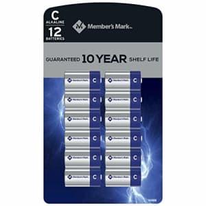 Member's Mark Alkaline C Batteries (12 Pack) for $25