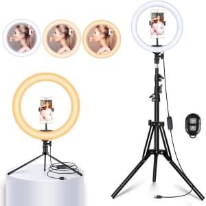 "Yesker 10"" Selfie Ring Light w/ Stand for $15"