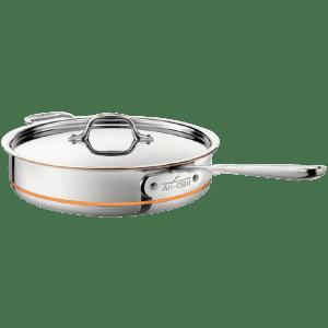 All-Clad 3-Qt. Copper Core Saute Pan w/ Lid for $150