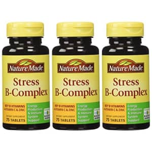 Nature Made Stress B Complex W Zinc Size 75ct (Pack of 3) 225 ct Total for $32